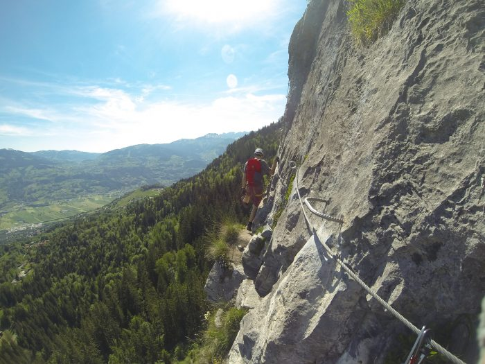 Peak Transfer loves the via ferrata in Passy near Chamonix