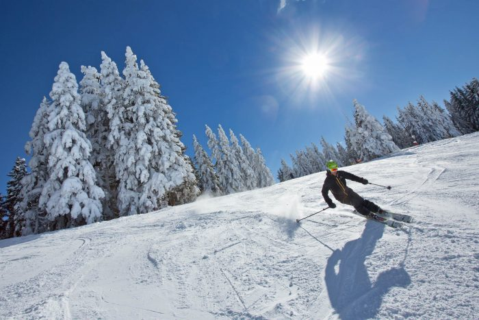 Peak Transfer Thinks Saint Gervais is a great treeline skiing resort