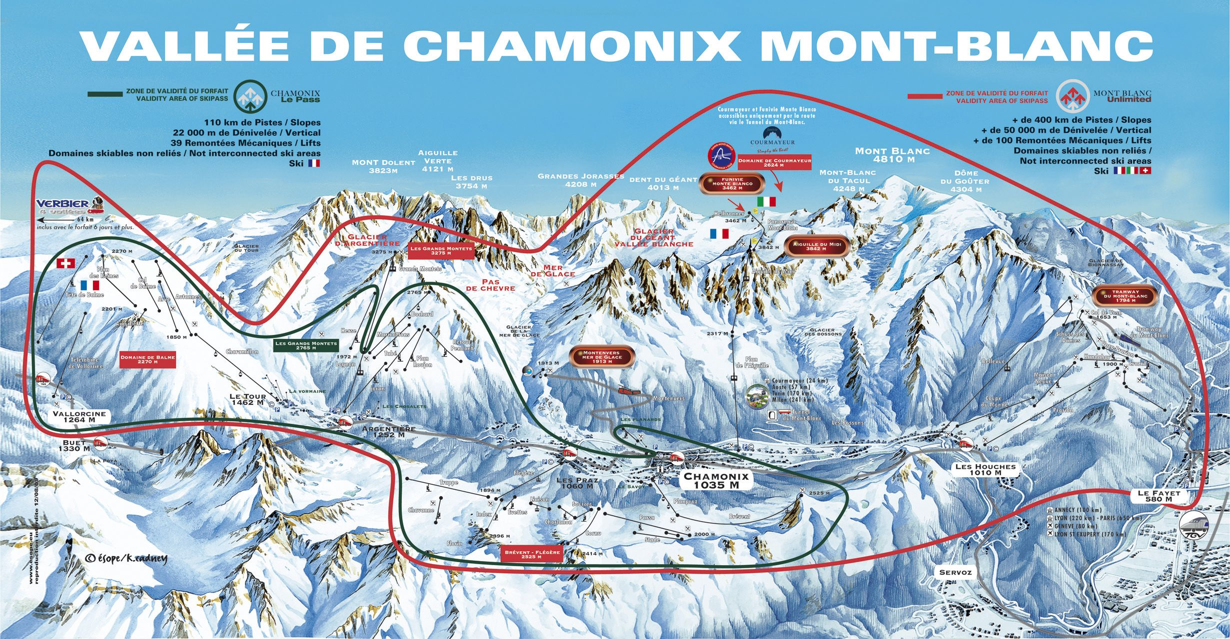 Peak Transfer Chamonix Ski Area Ski Passes